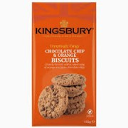 Kingsbury Chocolate Chip and Orange Biscuits 150g
