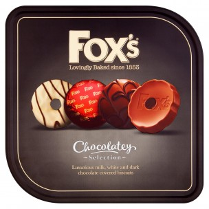 Foxs Chocolatey Biscuit Selection 365g