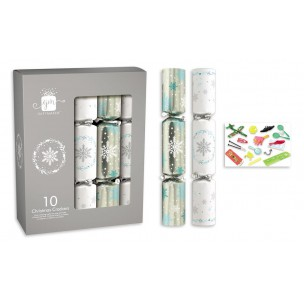 Christmas Crackers x 10 WHITE/SILVER