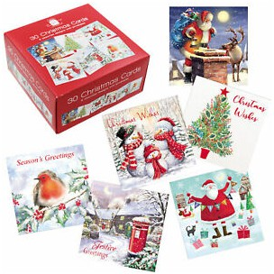 Christmas Cards x 30 Various Designs