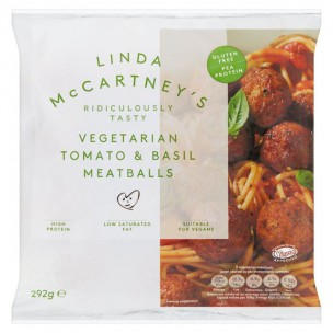 Linda McCartney Tomato & Basil Vegan Meatballs 292g