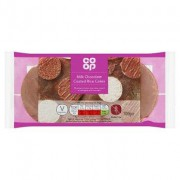 Co Op Milk Chocolate Rice Cakes 100g
