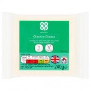 Co Op White Cheshire Cheese 240g