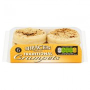 Braces 6 Pack Crumpets 285g