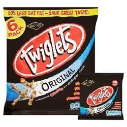 Jacobs Twiglets Pack 6 x 24g