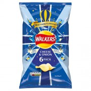 Walkers Cheese & Onion Crisps 6x25g Pack