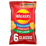 Walkers Variety Classic Crisps 6x25g Pack